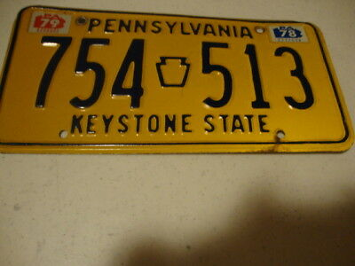 Antique collectible old PA. License Plate / PA. 78 - 79 / nice