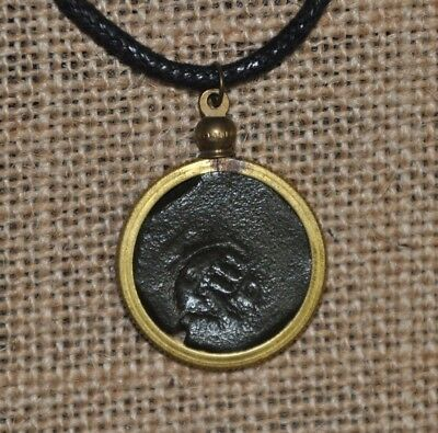 Authentic Spanish Colonial Pirate Shipwreck 8 Maravedis Coin Waxed Cord Necklace