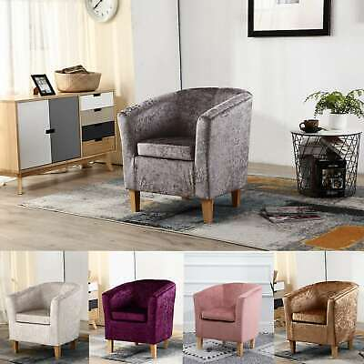 WestWood Crush Velvet Fabric Tub Chair Armchair Lounge Living Room Office TC12