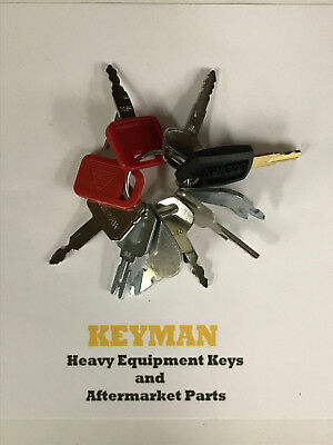 10 Keys Heavy Equipment / Construction Ignition Key Set