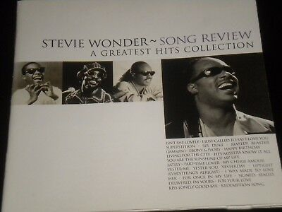 Stevie Wonder - Song Review - A Greatest Hits Collection - CD Album - 1996