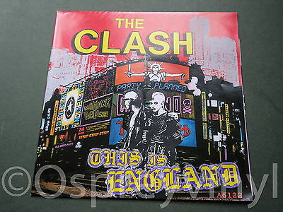 "The Clash This is England 7"" poster Sleeve Mint Unplayed with Perfect poster"