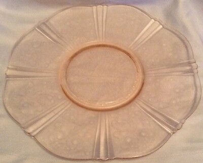 Depression Glass American Sweetheart Macbeth Evans Serving Plate 11-1/2""
