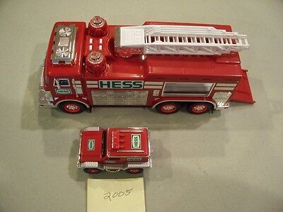 Hess Emergency Truck With Rescue Vehicle 2005 New In Box Free Shipping