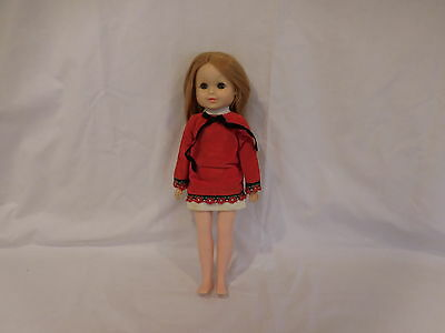 Doll 1967  Vogue Doll  Original Outfit  Vintage Red Dress Long Hair Rare