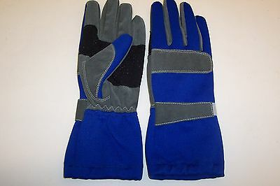 Kart Racing Gloves High Quality In Blue Extra Grippy Palms  Sizes Xxs  -  L
