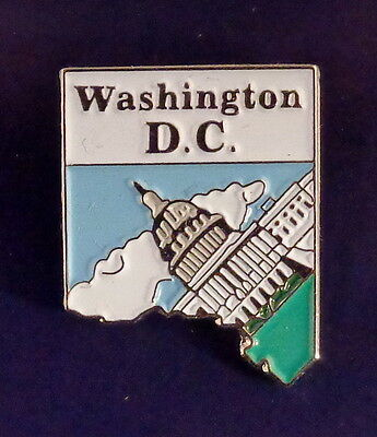 Washington DC State Shaped Map Lapel Pin DC Capital Dome District of Columbia