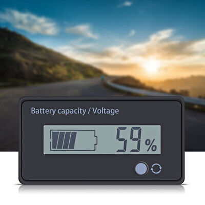 12-48V Acid Lead Battery Capacity Indicator Digital LED Tester Voltmeter Monitor