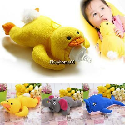 3 Styles Cartoon Animal Plush Cover Baby Feeder Bottle Case Insulation Keep Warm