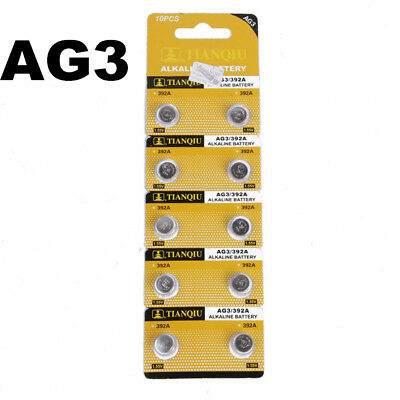 10PCS AG3 LR41 392 SR41 192 1.5V Alkaline Button Coin Cells Sturdy Watch Battery