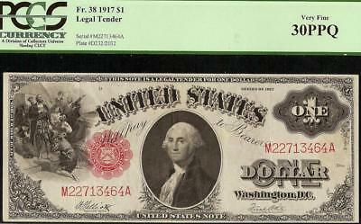 Large 1917 $1 One Dollar Bill United States Legal Tender Note Big Currency Pcgs