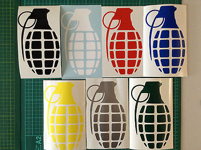 Grenade Snowboard Skate Sticker Your Colour Choice Vinyl Decal Buy 2 Get 1 Free