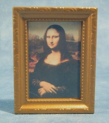 "Dolls House 1/12 Scale  ""mona Lisa"" Miniature Picture"