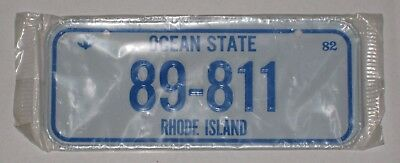 """Rhode Island """"89-811"""" - Bicycle License Plate - 1982 Cereal Premium - New Sealed"""