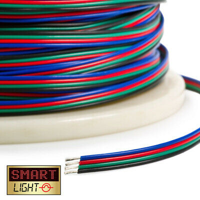 2-50m 4 + 5 Pin RGB RGBW LED Strip Extension Connector Cable Wire 5050 3528 2835