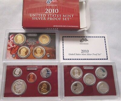 2010 Us Mint ***silver*** Proof Coin Set With Box & Coa