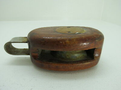 2 Inch Wood Bronze Pulley Block And Tackle Pully Sail Boat (#243)