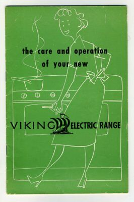 CARE AND OPERATION OF YOUR NEW VIKING ELECTRIC RANGE Eaton's Canada Booklet