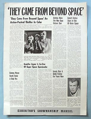 Vintage - They Came From Beyond Space - Orig. 1967 Embassy Pictures Pressbook -