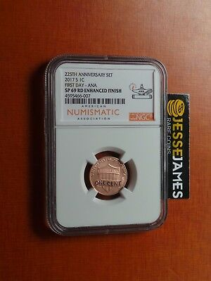 2017 S Lincoln Penny Ngc Sp69 Rd Enhanced Finish First Day Ana One Cent