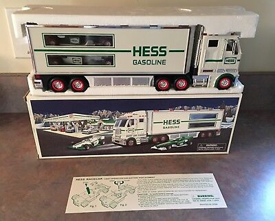 2003 Hess Toy Truck and Race Cars New In Box Mint In Box