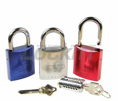 ABUS Titalium Padlock 83AL/45 Aluminum Rekeyable 5/16 in Hardened Steel Shackle