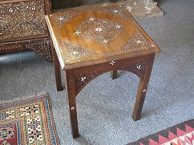 Vintage Syrian made Middle Eastern Moroccan Moorish side end occasional Table.
