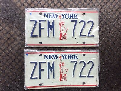 1986 New York License Plates ZFM 722