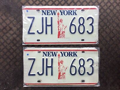 1986 New York License Plates Zjh 683