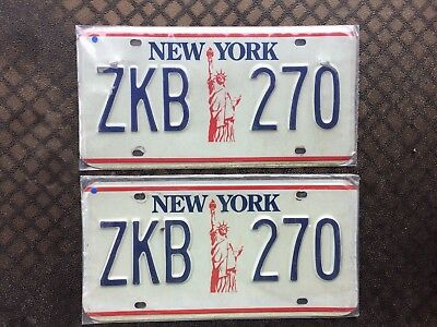 1986 New York License Plates Zkb 270