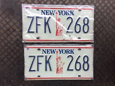 1986 New York License Plates Zfk 268