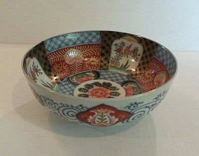"19th C. JAPANESE IMARI DECORATED 8.25"" DEEP BOWL, MEIJI PERIOD (1868-1913)"