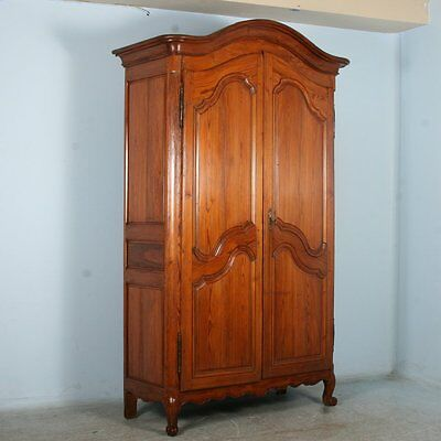 Tall Antique 19th Century French Pine Armoire