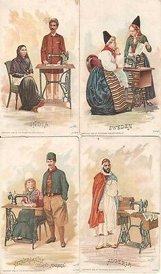 Nine (9) Singer Sewing Machine Advertisement Cards Copyright 1892