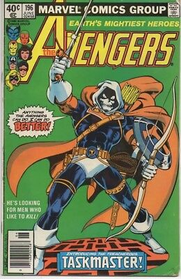 THE AVENGERS #196 FIRST APPEARANCE OF THE TASKMASTER! Very Fine Condition