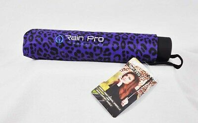 Rain Pro Compact Manual Animal Print Umbrella with Rubber Handle
