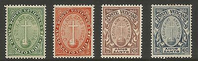 Vatican 1933 Holy Year (4) S.g 15-18, Mh*