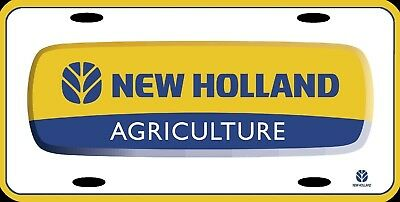 """New Holland Agriculture Official Farm Vanity License Plate Sign 12x6"""" METAL NEW"""