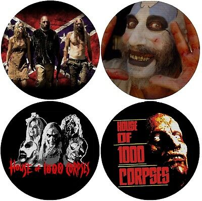 The Devil's Rejects House of 1000 Corpses Drink Coasters Cloth Top Rubber Bottom