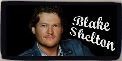 Blake Shelton Country Music Star Checkbook Cover Credit Card Holder NEW NICE
