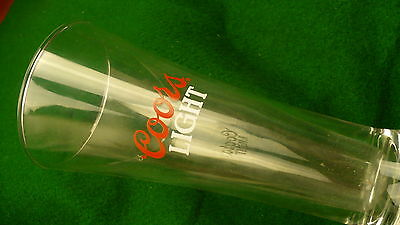 Coors light  beer glass 10 ounce tapered USA brewery