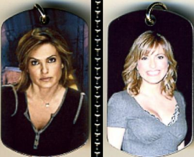 "Mariska Hargitay TV Celebrity Color Photo Aluminum Dog Tag Necklace w/30"" Chain"