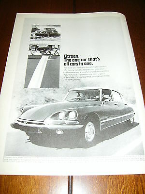 1969 Citroen    ***original Vintage Ad*** Very Rare!!!!