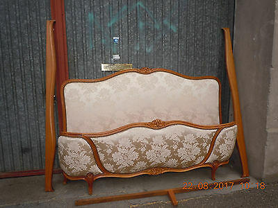 2281 ANTIQUE FRENCH Louis Philippe Upholstered KING SIZE BED