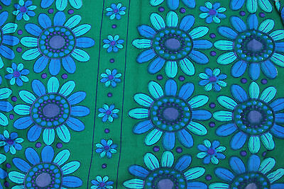 Beautiful Vintage cotton Fabric 60s 70s retro Eames Day Scandinavian 160cm x 144
