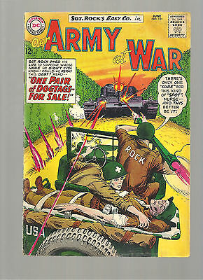 Our Army At War #131  Mid Grade Copy War Cover