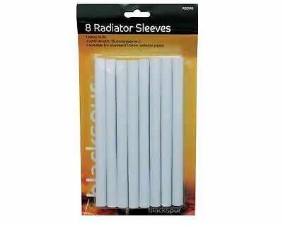 8 x 15mm White Raidator Pipe Covers Sleeves Shrouds snap Around your pipes