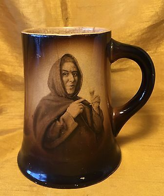 Antique IOGA Warwick Playful Monk or Friar w Wine Portrait Mug / Tankard / Stein