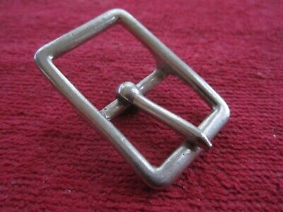 "10 Vintage Nos Walsall 7/8"" Nickel Plated Buckles Harness Hames Hardware"