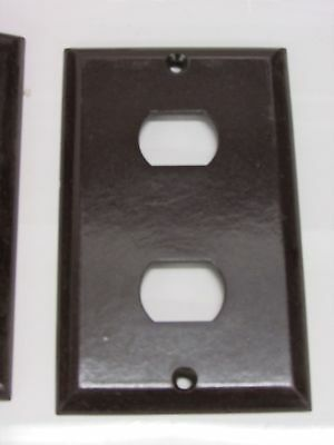 (20) Bell Interchange Single Gang Wall Plate, 2-Hole Horizontal, Brown 18-1-Br